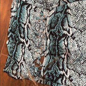 LF Dresses - Snake Print O-ring Playsuit